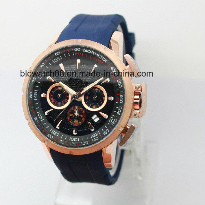Custom Fashion Mens Ladies Diamond Watches with Gold Plated