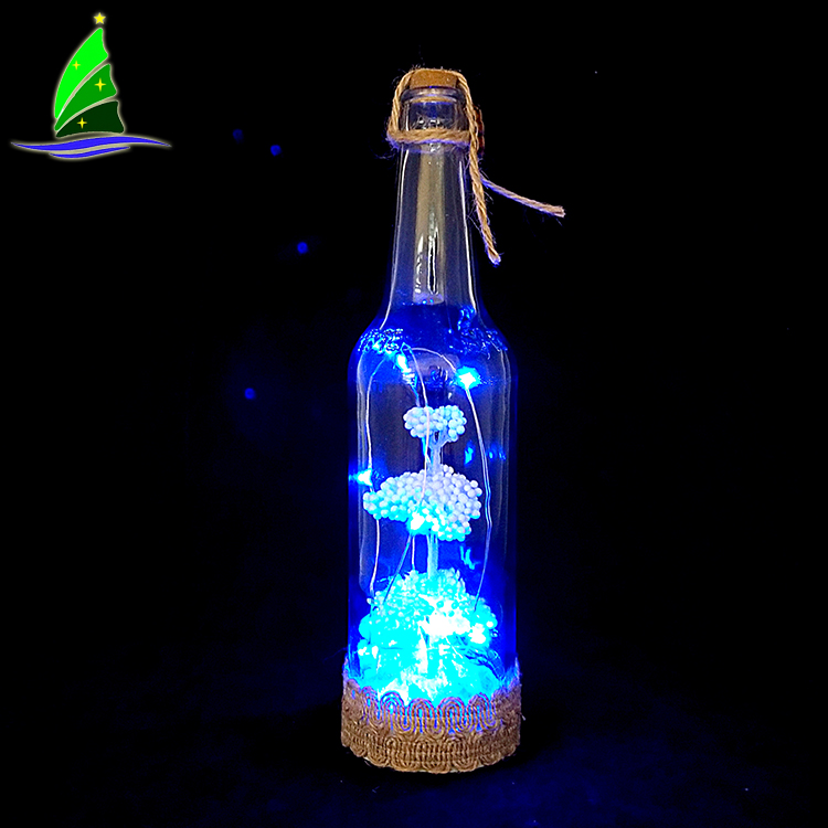 Christmas Glass Wine Bottle