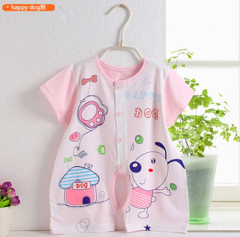Cotton Baby Printed Romper