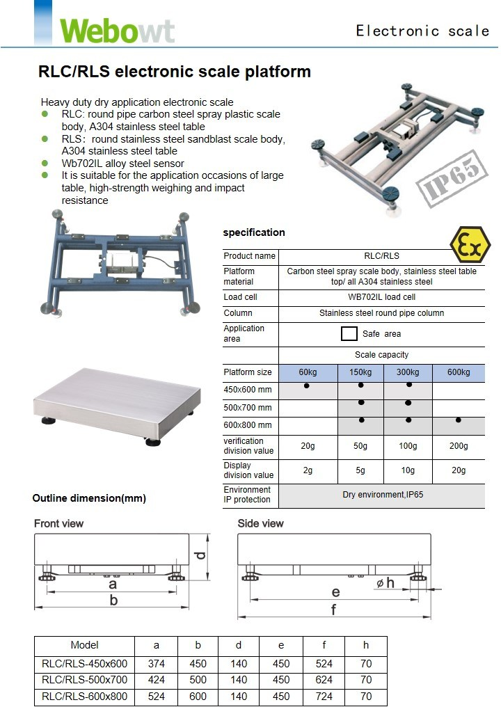 High Strength Weighing Electronic Scale