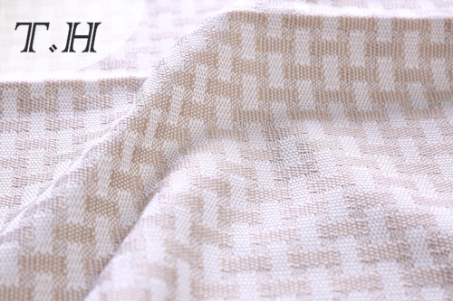 Little Dots Pattern Linen Fabric Sofa Material (FTD31053AB)