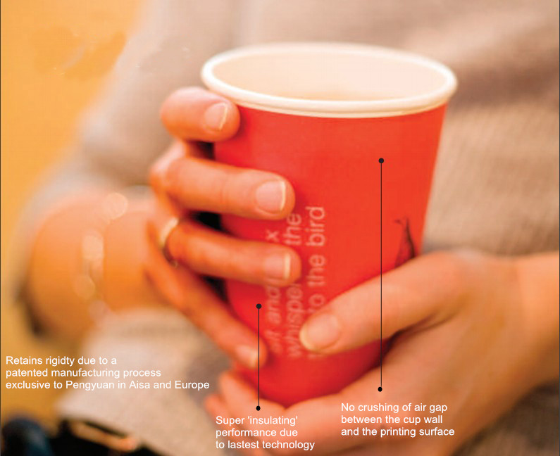 Printed Disposable Paper Cup Sleeve for Hot Coffee