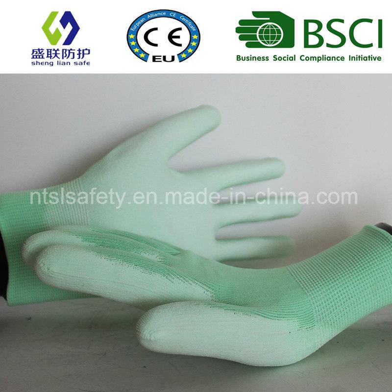 PU Coated Work Safety Glove (SL-PU201G1)