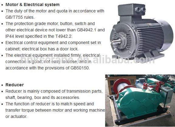 China Top Brand Elelctric Winches