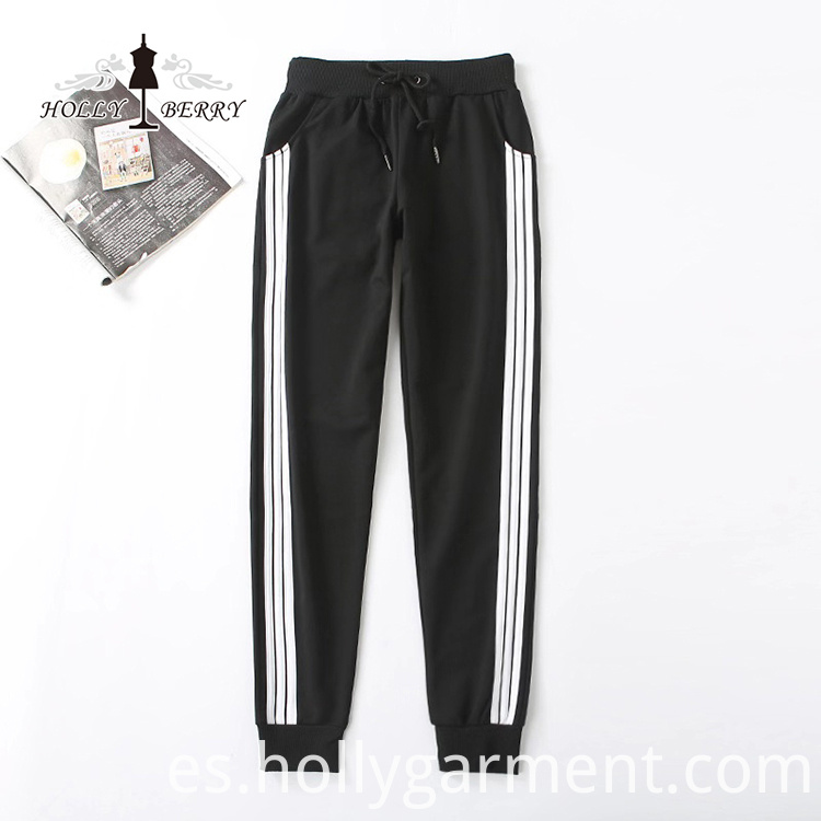 Loose Flat Streaked Sports Pants