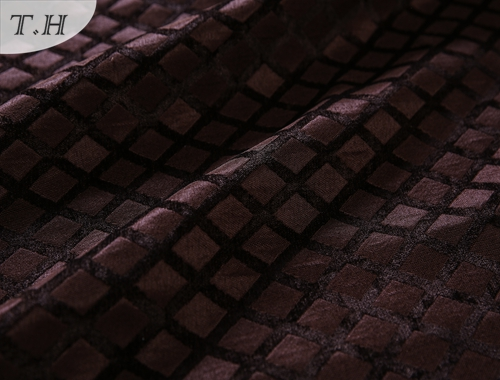 Coffee Grids Chenille Jacquard Covers for Sofa and Chair