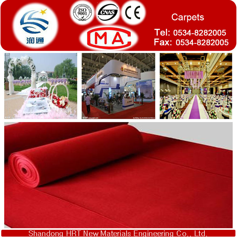 Once Time Carpet USD 0.51/GSM for Exhibition and Wedding