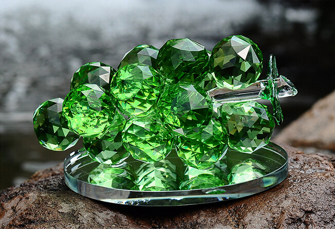 Crystal Grape Glass Crafts for Home or Car Decoration