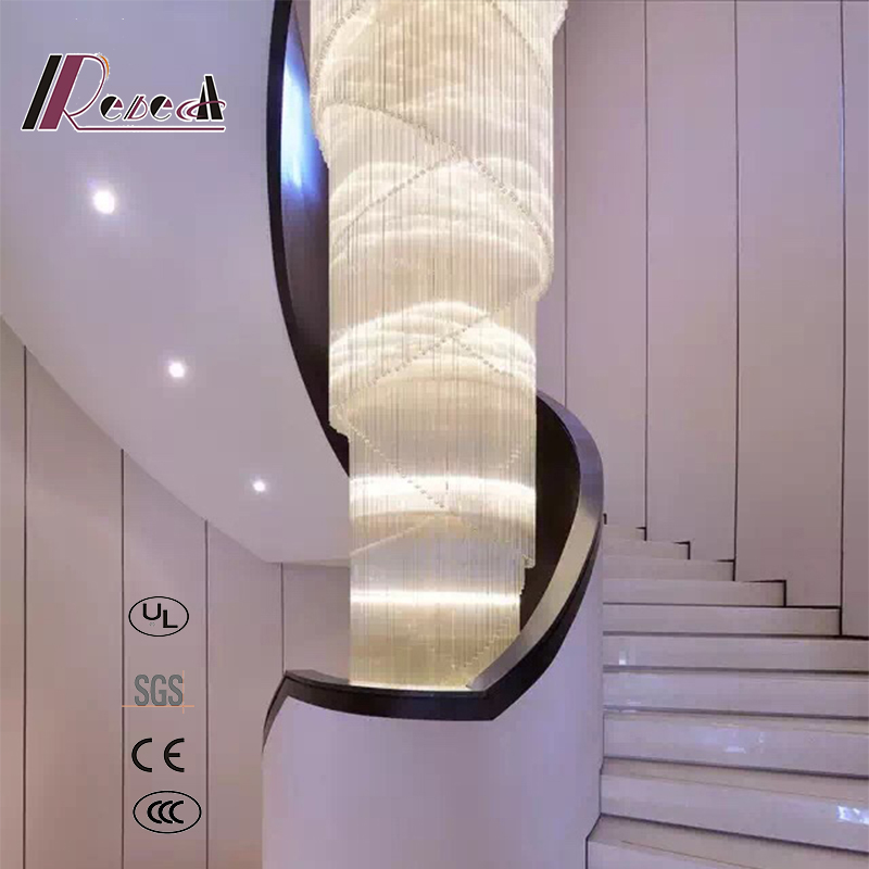 modern Design Decorative Crystal Chandelier for Staircase