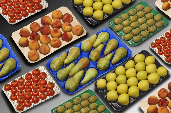 Supermarket Display Stackable Fruit and Vegetable Plastic Packing Tray