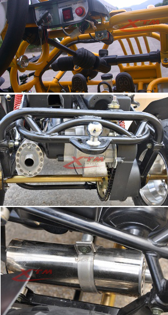 9HP Adult Pedal Two Seat Go Kart with Brake System