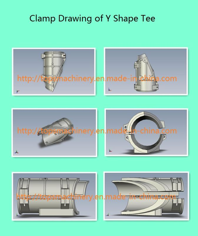 Multi-Angle Workshop Hydraulic Heat Fusion HDPE Pipe Tube Elbow Tee Cross-Tee Fitting Fabricating Butt Welding Machine Welder