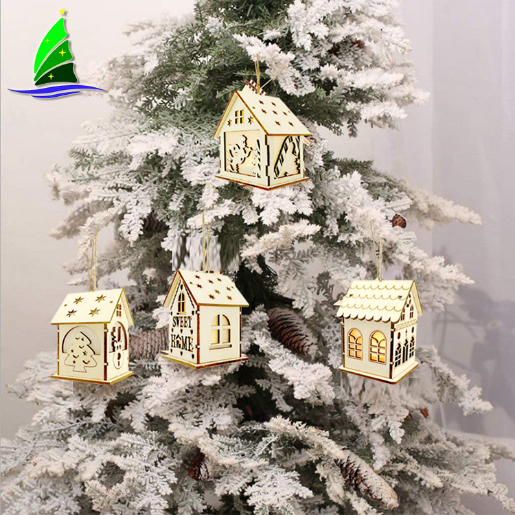 Light Wooden Hanging Ornaments