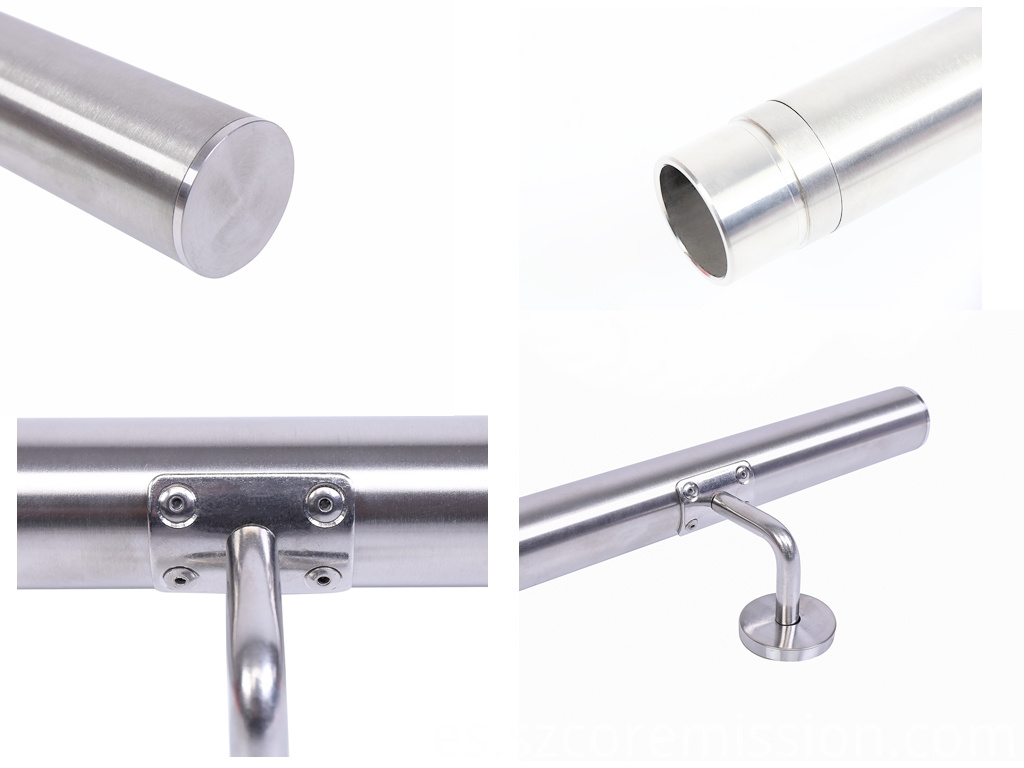 Stainless Steel Removable Escalator Wall Mount Handrail