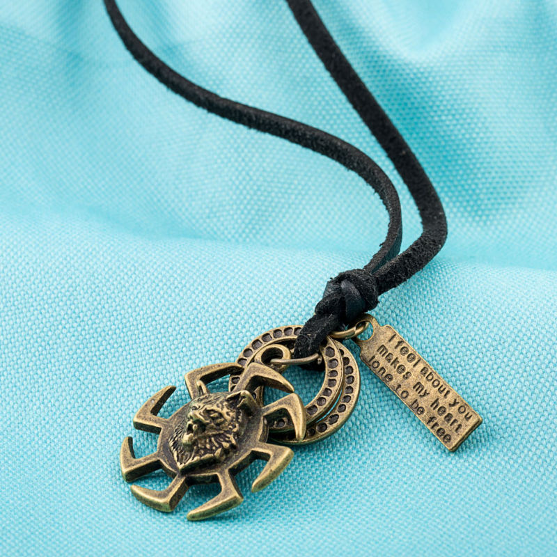 Punk Style Women Leather Necklace Leather Jewelry for Women