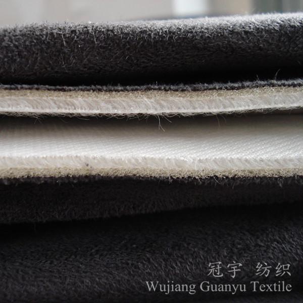 Short Pile Velvet Fleece Fabric for Upholstery Sofa