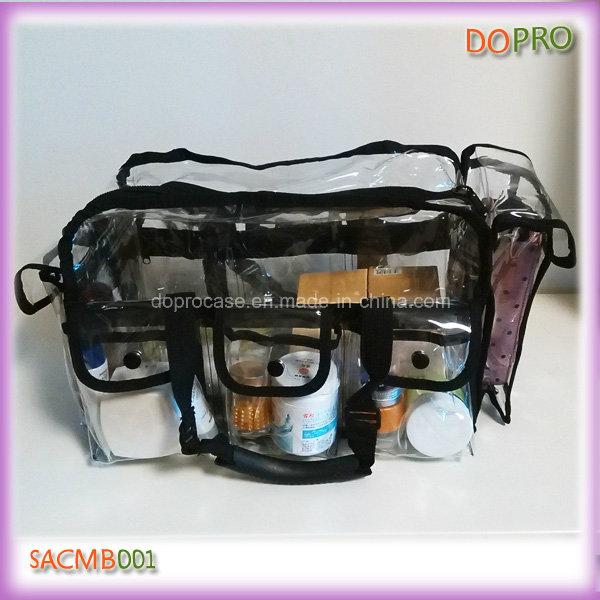 Large Capacity PVC Professional Clear Makeup Bag (SACMB001)