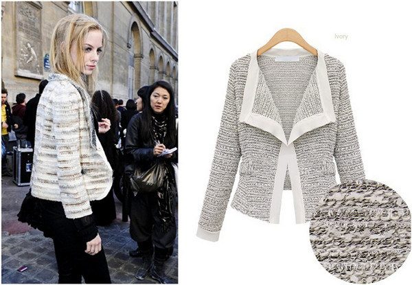 Fashion Women Slim Button Collar Casual Business Blazer Suit (50010)