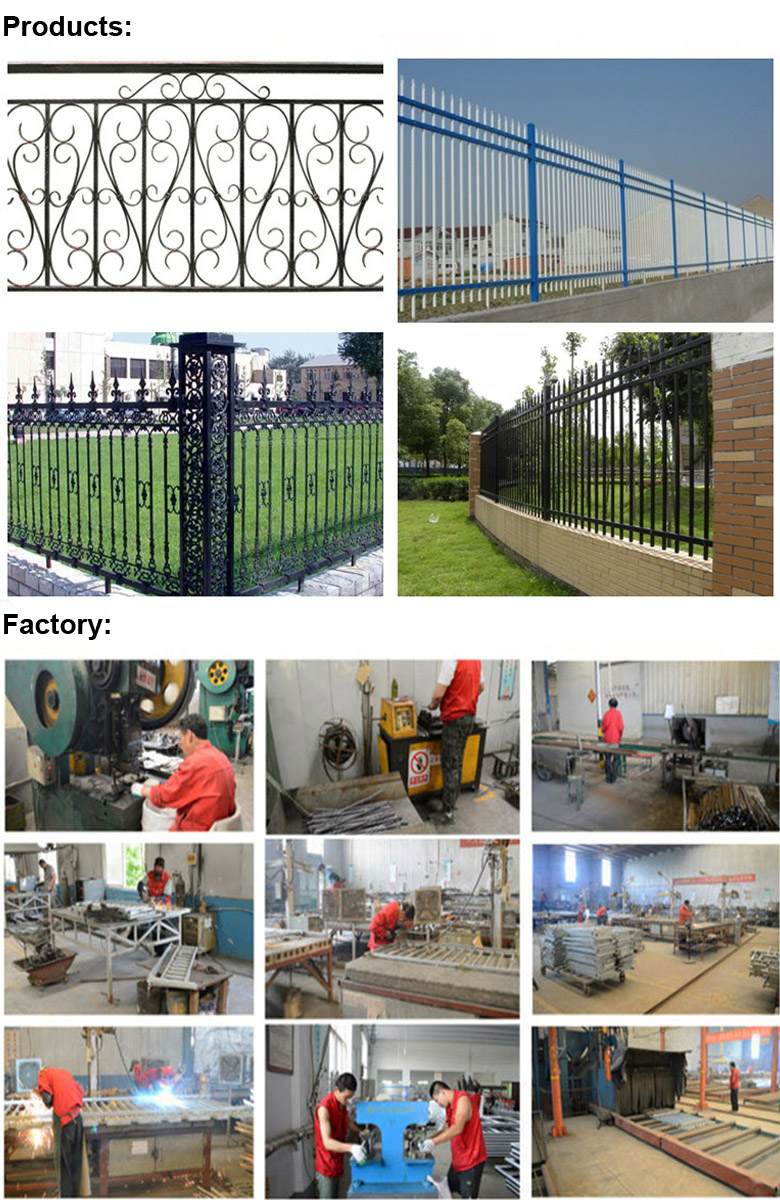 Concise Style Wrought Iron Fence