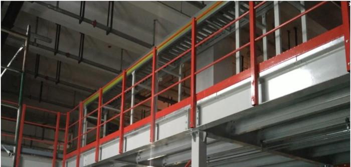 Mezzanine System Built by Racking