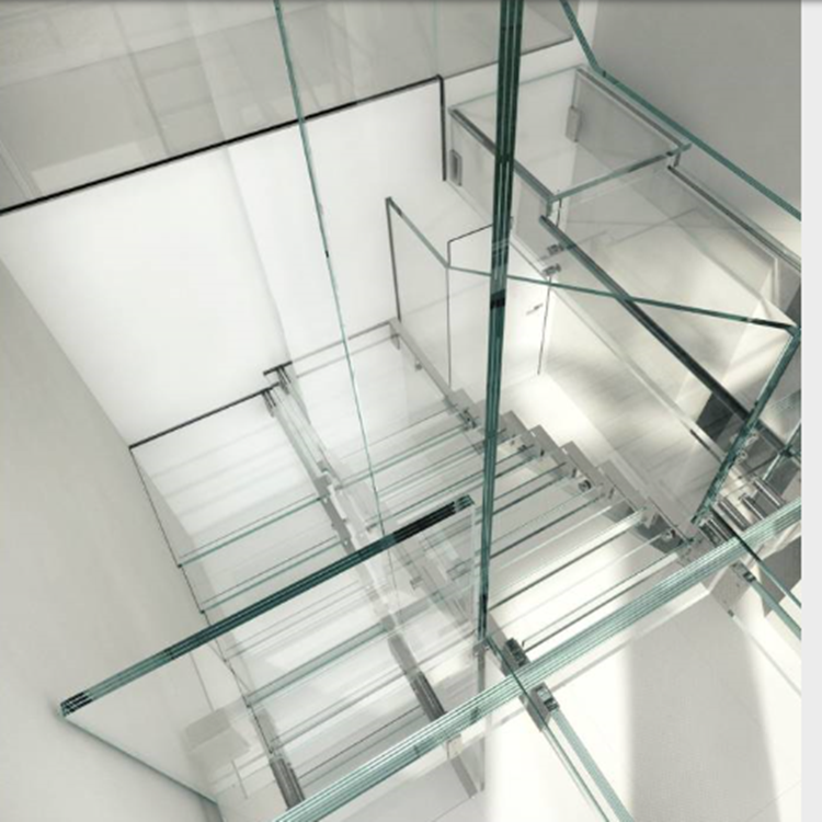 Triple Laminated Staircase Glass