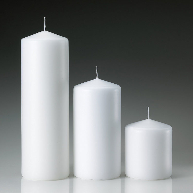 Cheap White Pillar Top Candle
