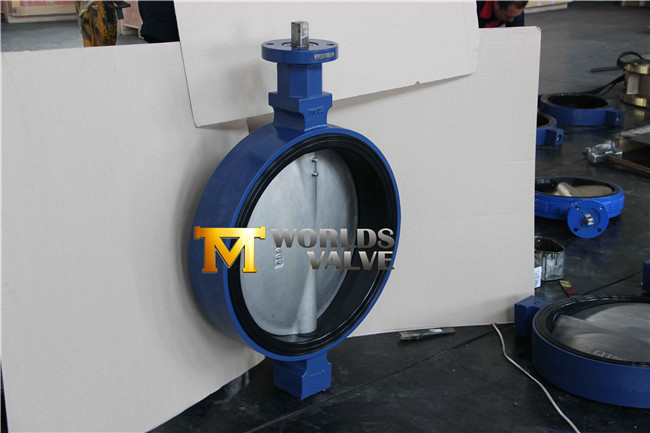 Double D Stem Head Concentric Rubber Seat Wafer Butterfly Valve
