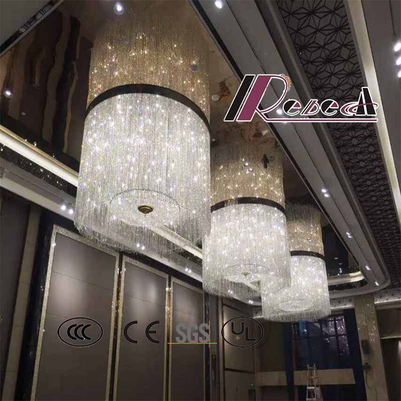 Good Quality Amber Modern Decorative Hotel Project Crystal Chandelier
