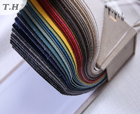 2017 Decorative Fabric Linen Yarn Chair Seat Cover Fabric