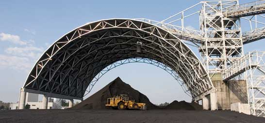 Arch Dry Coal Storage Shed Steel Space Frame Roofing System