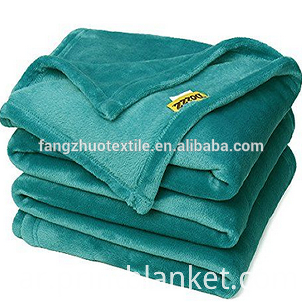 flannel green blanket