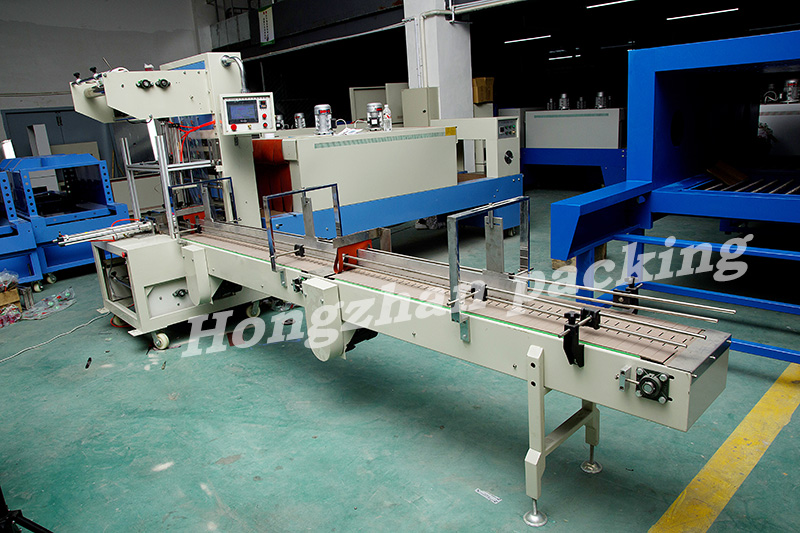 Automatic Three Sides Film Sealing Machine with L Cutter for PVC POF PP Heat Shrinking Tunnel Auto Packing Machinery