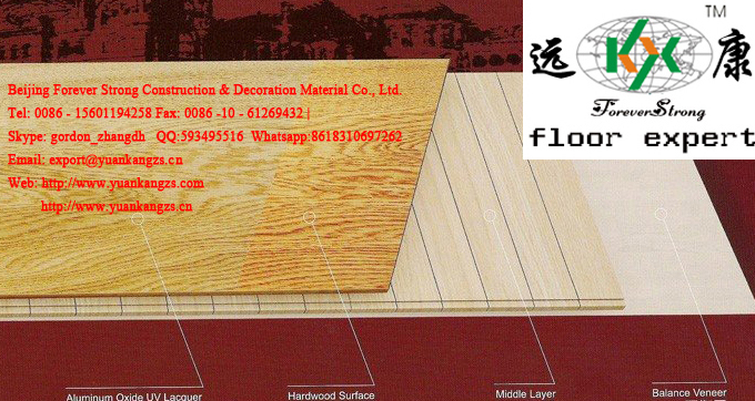 Rustic Style Oak Engineered Parquet Flooring