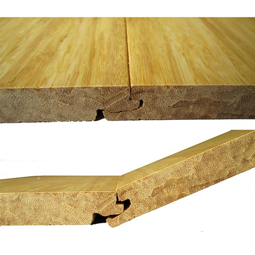 Click System or T&G Strand Woven Natural Bamboo Flooring