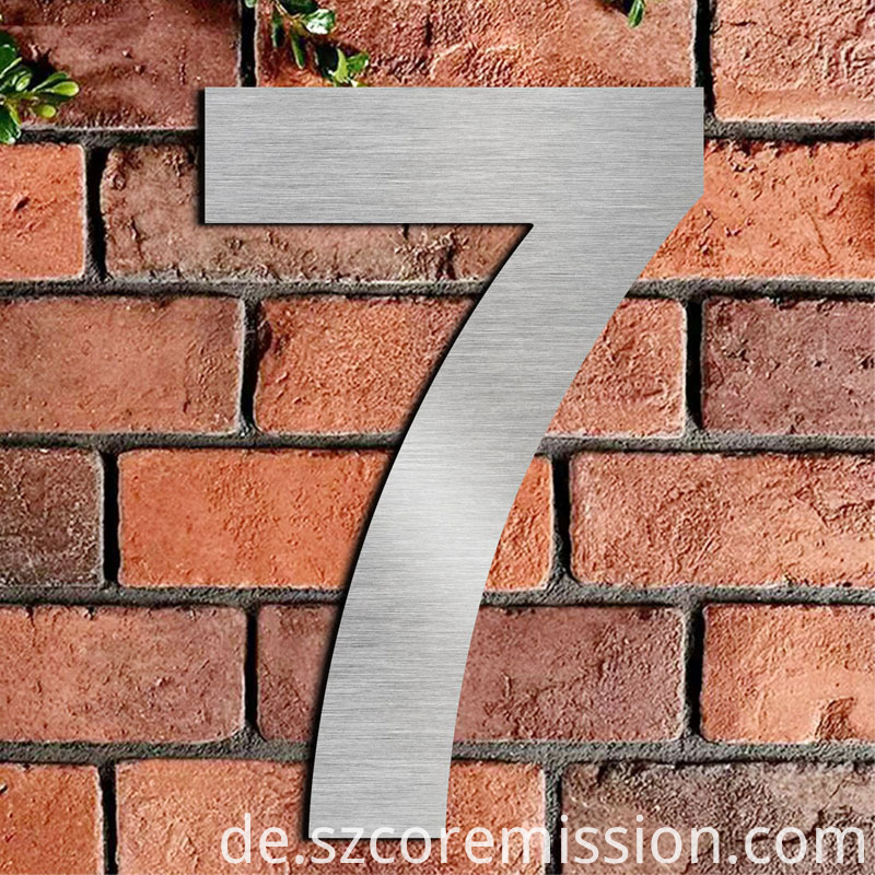 2D Outdoor Waterproof Stainless Steel House Number Plate