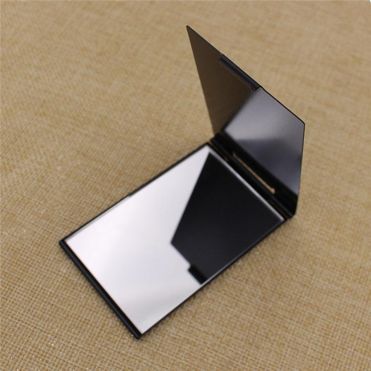 Square Folding Aluminum Pocket Compact Mirror with Custom Logo