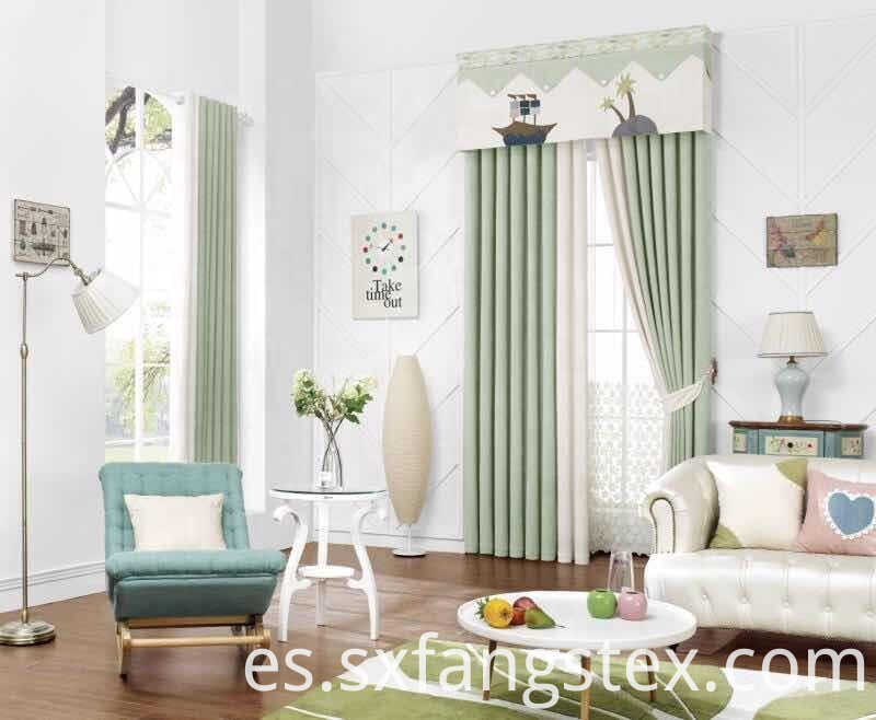 Simple Style Shading Blackout Window Curtain Fabric 1