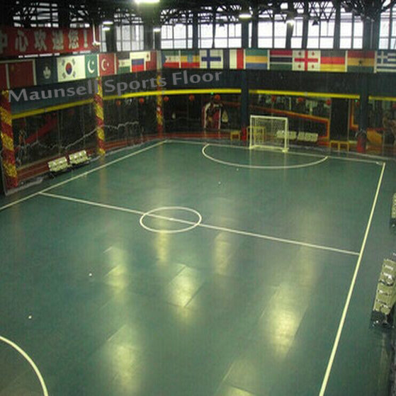 High Quality Indoor PVC Interlock Sports Floor for Soccer / Futsal Court