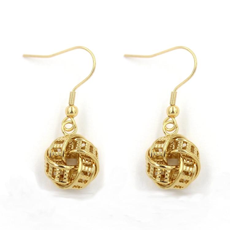 Hot Sales Fancy 18k Gold Jewelry Round Studs Earring