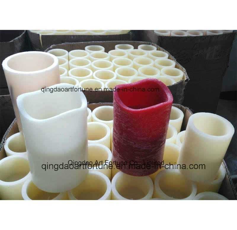 Yellow Light Flameless Real Wax LED Pillar Candle for Xmas Range