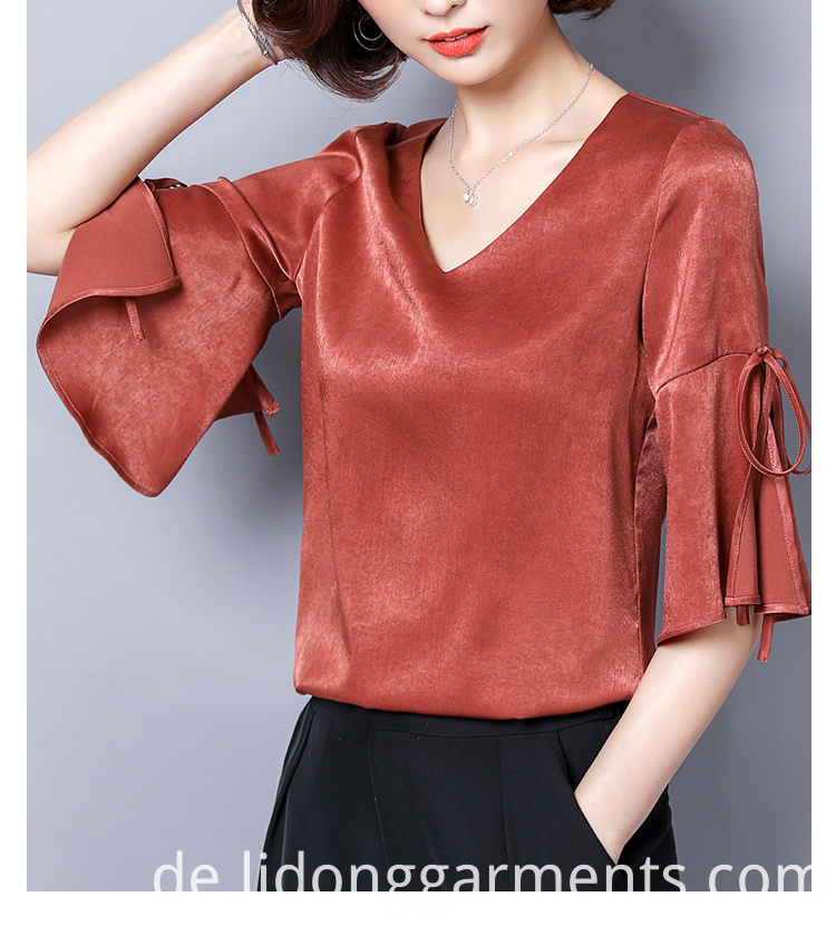 Fashion Cutting V-neck Sweet Top