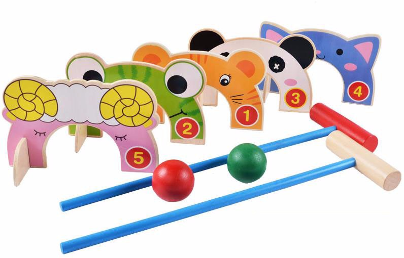 Animal Children Croquet Wood Toy