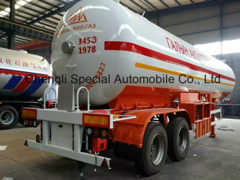 ASME 50m3 LPG Transport Trailer 56000L LPG Tank Semi Trailer