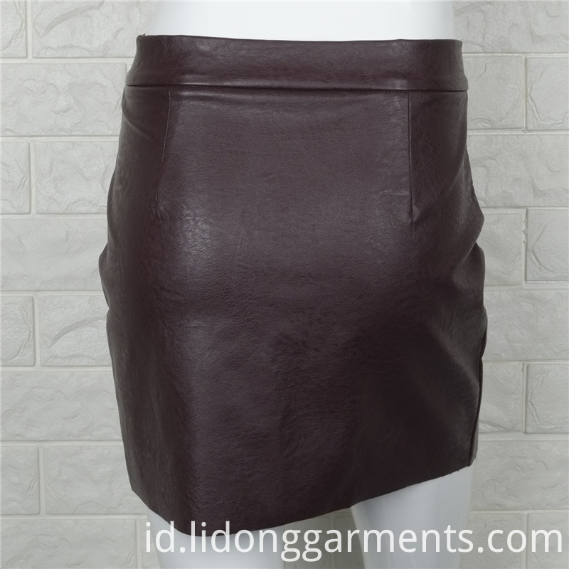 New Fashion Women PU Skirt