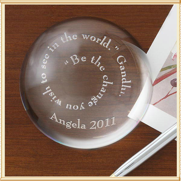 Arch Transparent Crystal Paperweight -Free Engraving Logo