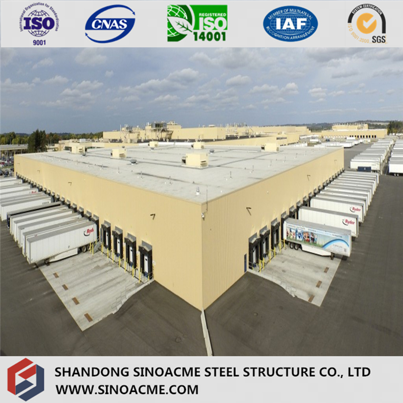 Low Cost Galvanized Steel Structural Warehouse with Life 50 Years
