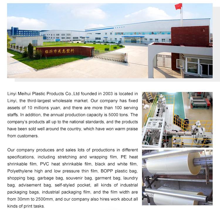 China Plastic Machine Clear LLDPE Stretch Film Rolls