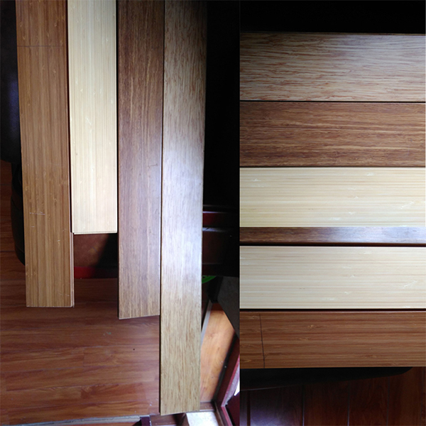 Handscraped T&G Carbonized Solid Strand Woven Bamboo Flooring