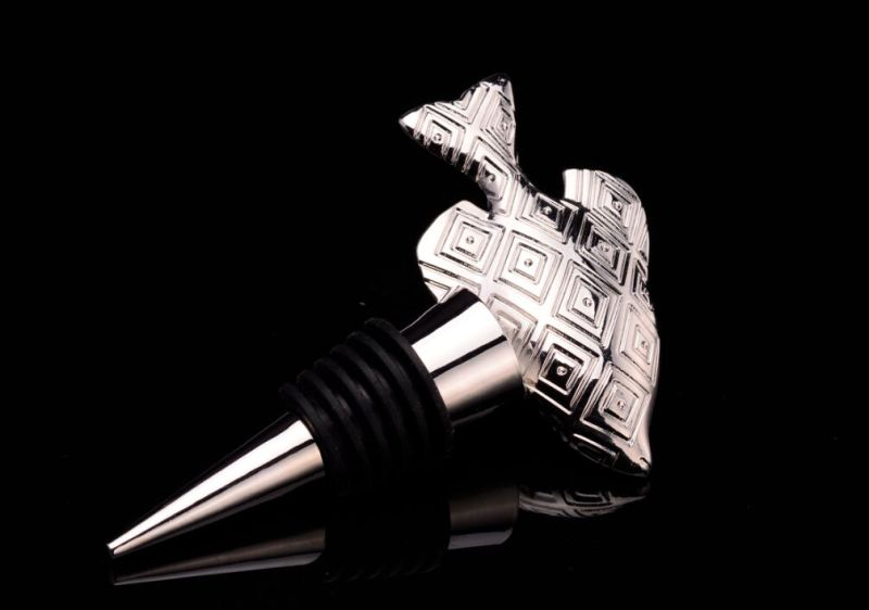 Sea Star Shape Silver Plated Bottle Stopper (GZHY-BS-027)