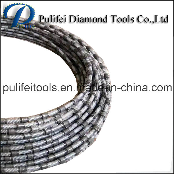 Diamond Wire Cutting Rope for Cutting Quartz Stone Marble Slab
